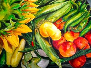 Yellow Tomato Watercolor ©Dora Sislian Themelis