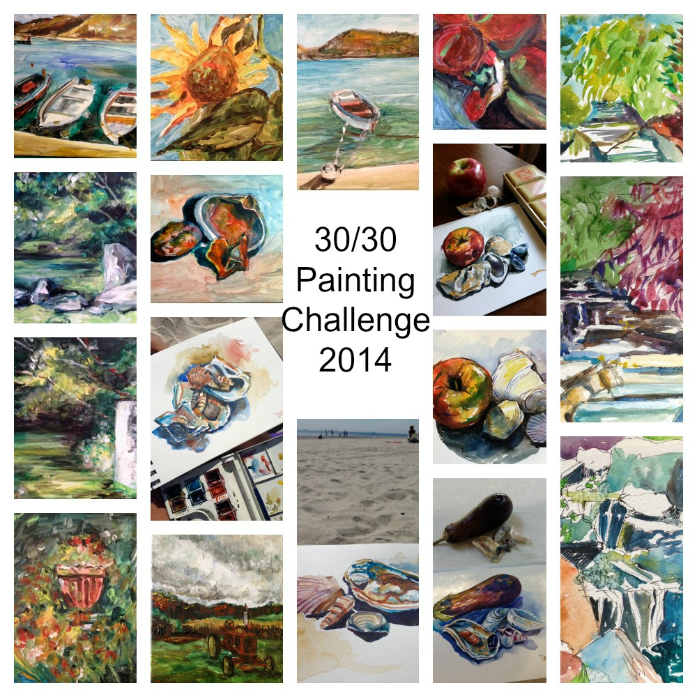 17 paintings in the 30/30 Challenge